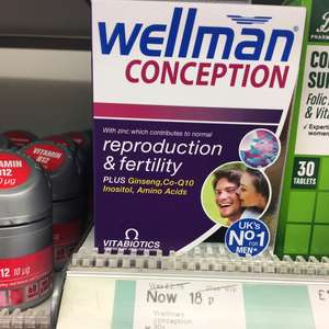 Wellman conception 18p instore @ Boots Leicester (12p if you buy 3)