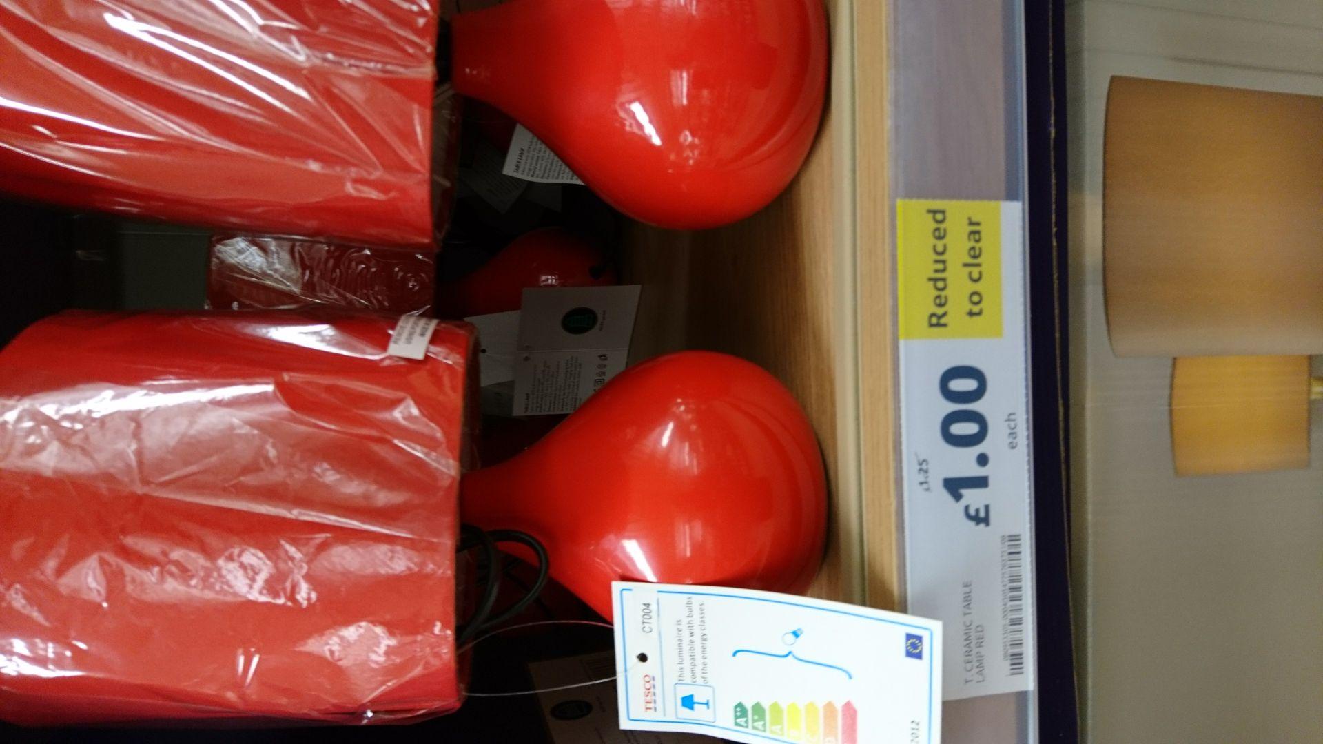 Tesco table lamp £1 instore