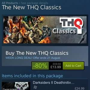 The New THQ Classics - 80% off - Steam - Includes Darksiders Warmastered Edition and Darksiders 2 Deathinitive Edition £13.99 @ Steam
