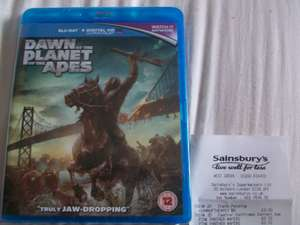 Dawn Of The Planet Of The Apes Blu-ray - £3 at Sainsbury's Crawley