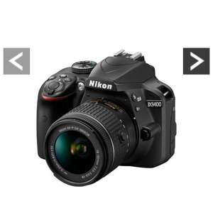 Nikon D3400 DSLR Camera With AF-P 18-55mm VR Lens, Was £489.99 Now £429.99 Save £60.00 & use Voucher Code LWPMV to save a further £75 @ Very