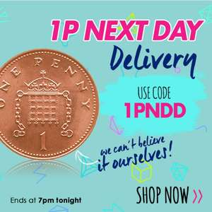 Getthelabel 1penny next day delivery (today only)