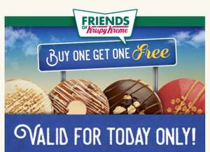 BOGOF new Krispy Kreme doughnuts today only
