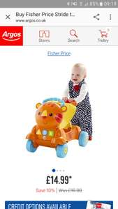 Fisher price ride to stride lion £14.99 Argos (38.99 elsewhere!)