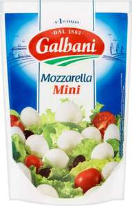 Galbani Mozzarella Minis (20's = 150g) was £1.50 now £1.00 @ Morrisons