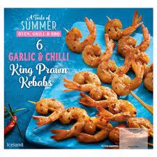 Iceland 6 Garlic & Chilli King Prawn Kebabs 192g (7 Day Deal) £1.50 @ Iceland