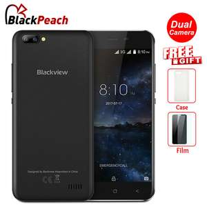 Blackview A7 Dual Rear Cameras Mobile Phone 5.0 inch HD MT6580A Quad Core Android 7.0 1GB RAM 8GB ROM 5MP Cam 3G Smartphone £39.04  aliexpress / BlackPeach Store