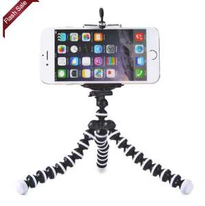 Mini Octopus Style Mobile Phone Stand Flexible Tripod 76p with code Delivered @ Gearbest