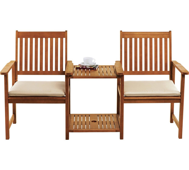 Garden Duo Seat Cushion - Cream £12.99 @ Argos
