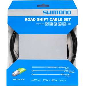 Shimano 105 5800-Tiagra 4700 Gear Cable Set - Green, Grey, Orange, White, Yellow for £9.99 at chainreactioncycles.com