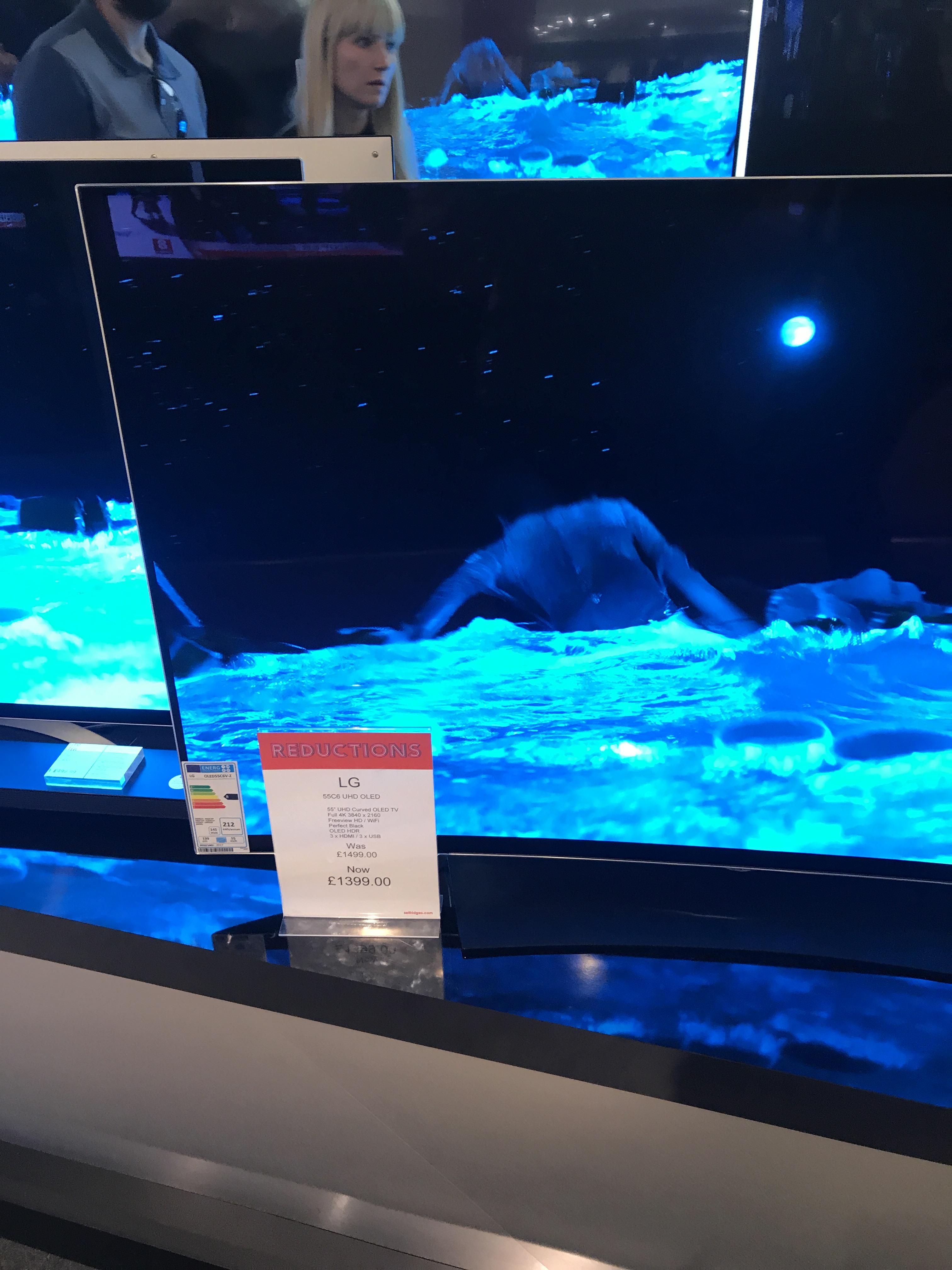"55"" LG C6 OLED TV £1399 in Selfridges Trafford"