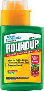 Concentrated weedkiller, 280ml (makes 14L). £4 Prime / £7.99 non Prime @ Amazon