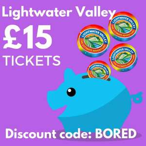 Lightwater Valley £15 tickets voucher code