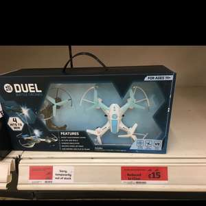 Arcade duel battle drones was £40 now £15 @ Sainsbury's - brazen gate