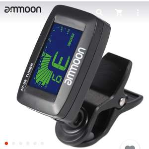 ammoon AT-02 Top Quality Guitar Tuner Clip On Tuner Universal Digital Electric Tuner for Chromatic Guitar Bass Ukulele Violin £3 @ Aliexpress