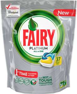Fairy Platinum All in One Dishwasher Tablets Lemon (37) was £16.00 now £6.00 @ Morrisons