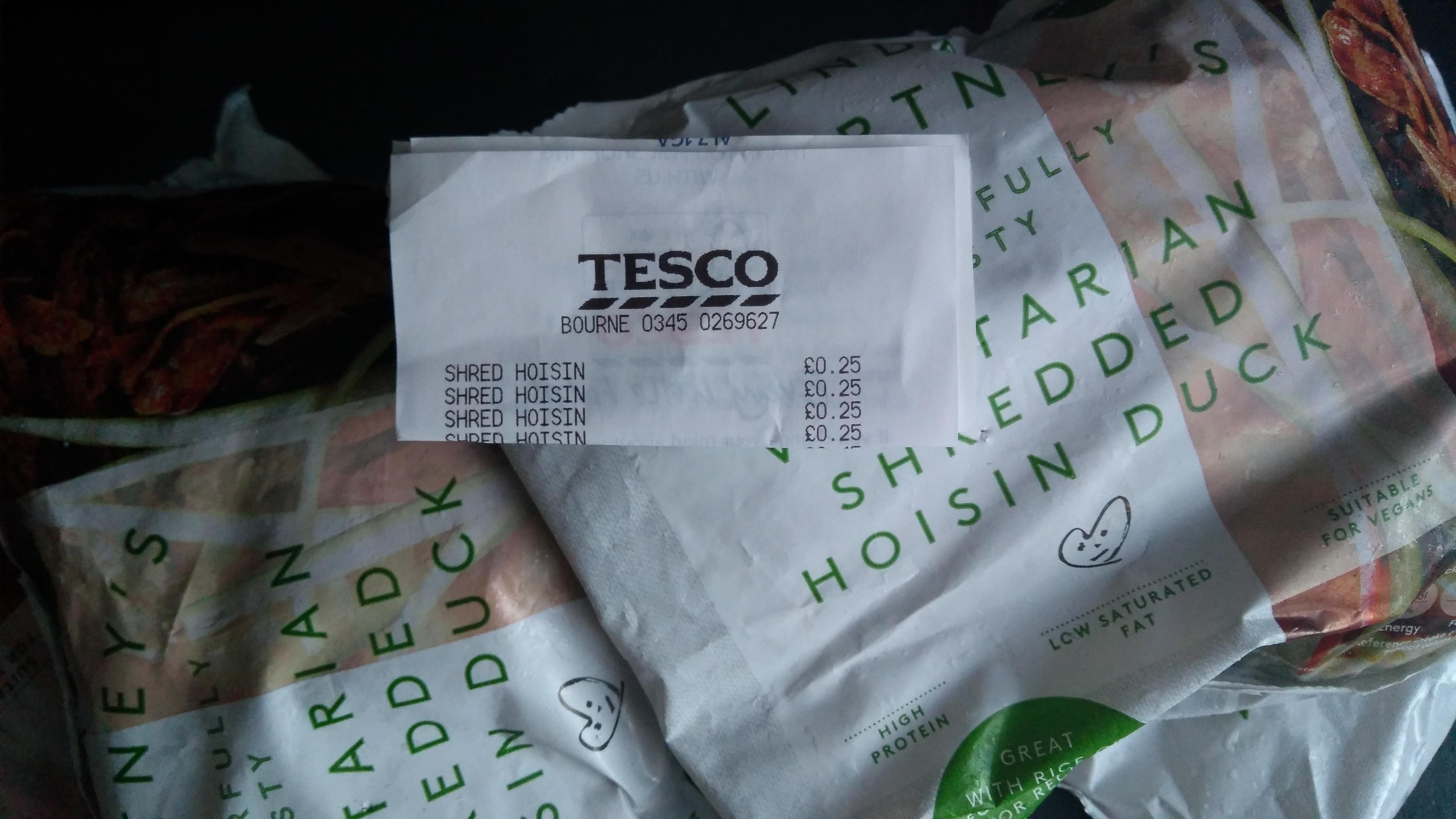 Linda Mccartney Vegetarian Shredded Hoisin Duck 300G 25p Tesco Lincolnshire