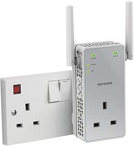 NETGEAR 11AC 750 Mbps Dual Band Wi-Fi Range Extender with Power Socket £25.68 @ Amazon
