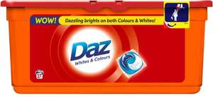 Daz Go Pods Bio Capsules for Whites & Colours - 27 Washes was £6.25 now £3.12 @ Ocado