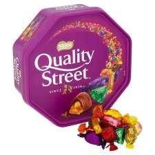 Quality Street, Roses, Celebrations and Heros tubs £5 Tesco