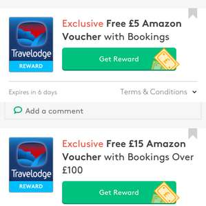 £5 amazon voucher with any travelodge booking + 30% off advanced bookings + 10% off Sunday nights