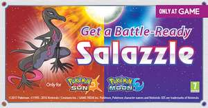 Free Salazzle Pokémon Sun/Moon at Game instore
