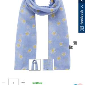 Girls lightweight scarf was £6 Now £1 @ Mothercare