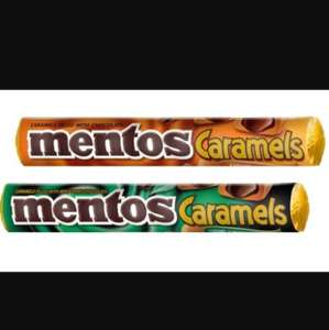 Mentos pack of 3 (caramel chocolate or caramel with mint chocolate) 2 for £1 (6 individual packs) @ heron