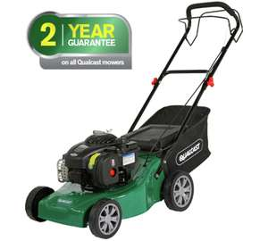 Qualcast 41 cm petrol push mower Briggs and Stratton engine £86.99 - Argos collect instore.
