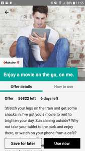 Free SD Movie Rental via Rakuten TV @ Wuntu App (Three Customers)