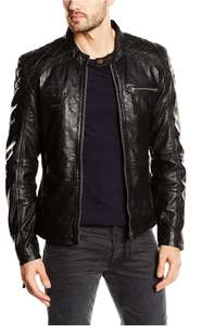 Kings on Earth Men's Leather Jacket £34.70 Del @ Amazon
