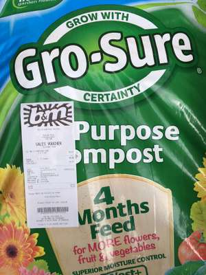 Miracle-Gro All Purpose enriched compost 50L £1.49 instore Stenhousemuir @ B&M