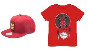 Marvel Bundle - Deadpool Tee and Iron Man Cap just £8.99 Delivered @ Zavvi