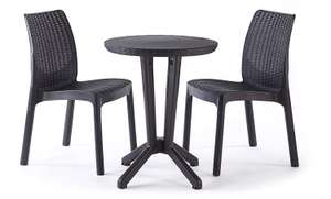 Keter Bistro 2 Seater Rattan Outdoor Garden Furniture Set  £44.99 @ Amazon