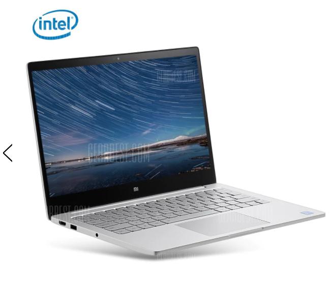 Xiaomi Air 13 Laptop i5-6200u 8GB 256GB discrete GPU £527  - now £525.12 @ Gearbest