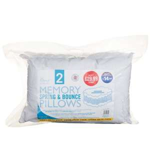 Home Comforts Memory 2x Pillows £1 B&M Instore deal