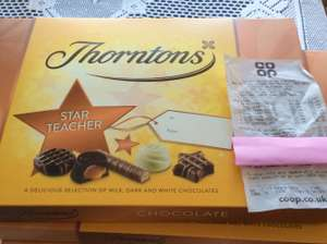 Thorntons Star Teacher Was £4 now £0.04p at all coop store......