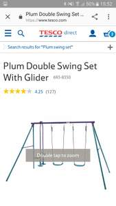 Plum swing set £18.75 from 89.99 instore Tesco wrexham