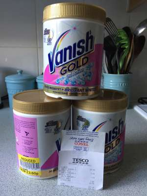 Vanish Gold Oxi Action 940g Reduced £3.60 from £9 - Tesco Aylesbury