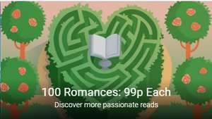 100 Romance Titles at 99p at Google Play eBooks