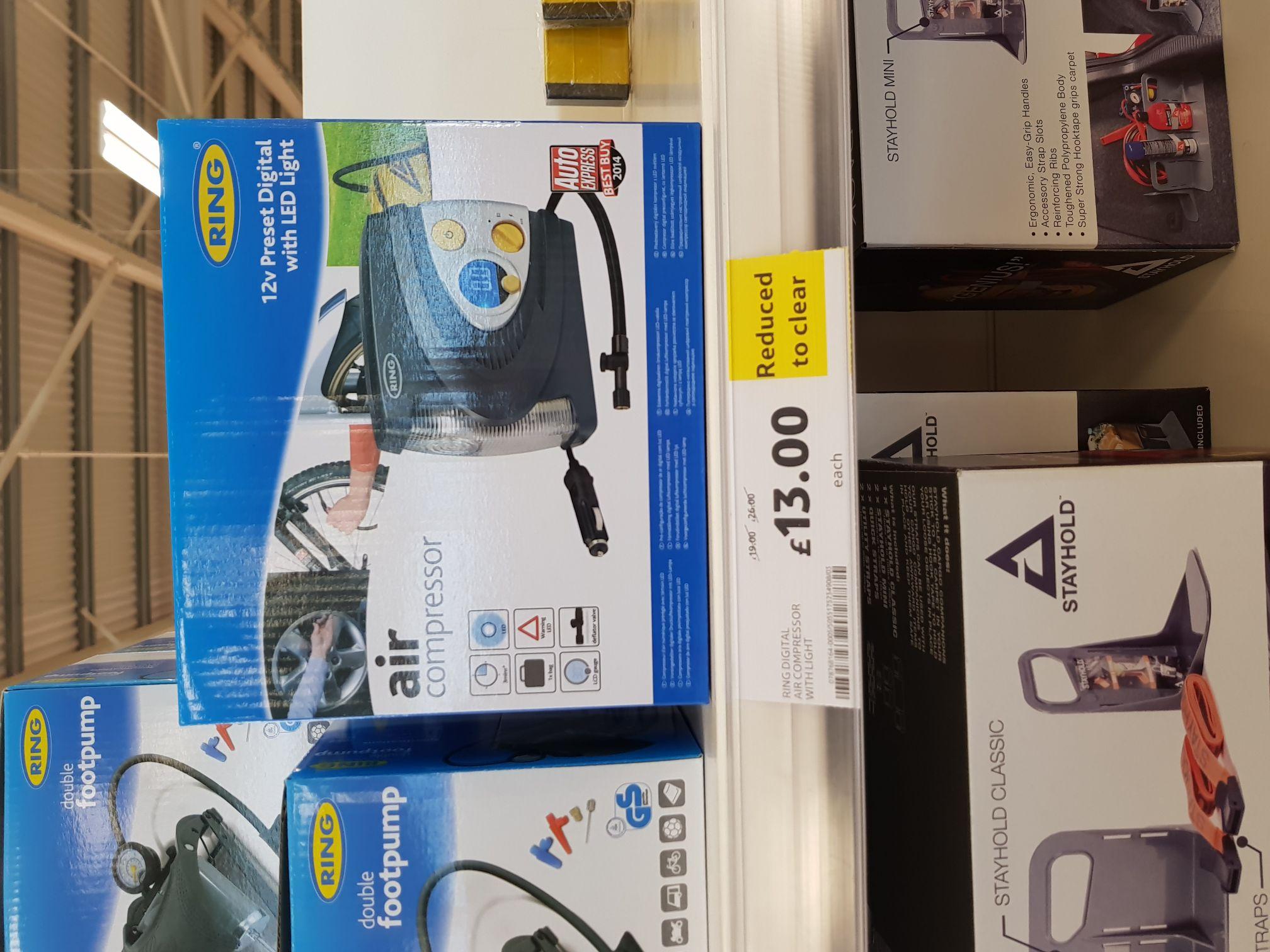 Ring Digital Air Compressor £13 @ Tesco Hanley instore