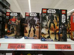 Lego Star Wars build able figures £7.50 @ Sainsbury's - Stanway, Colchester