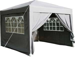 Airwave 3x3mtr Pop Up Waterproof Gazebo in Grey with 2 WindBars and 4 Leg Weight Bags - £75.99 @ Amazon