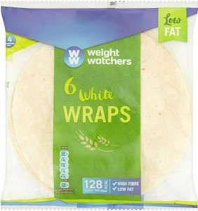 Weight Watchers (Low Fat) Plain White Wraps 6 pack was £1.34 now 75p (Rollback Deal) @ Asda