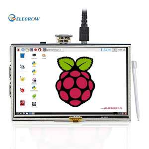 Elecrow 5 Inch Touch Screen HDMI Monitor HD 800x480 TFT LCD Display for Raspberry Pi 2B B+ Raspberry Pi 3 (+ 2 free men's belts worth £16.98) @ Amazon