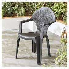 Dream Resin Dark Grey Garden Chair (was £10) Now £5.00 free click & collect at Tesco Direct