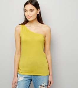 New look off the shoulder yellow top only £1