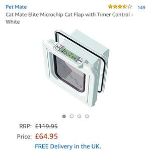 Cat Mate Elite Microchip Cat Flap with Timer Control - White £64.95 @ Amazon