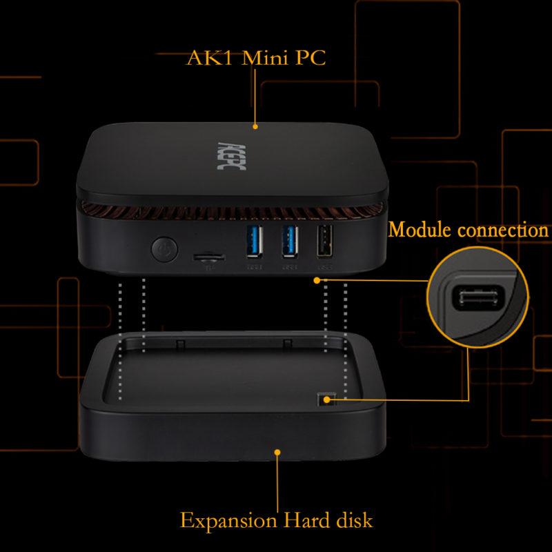 ACEPC AK1 Mini PC Intel Celeron J3455 Windows10 4GB DDR3 + 32GB eMMC 1000M LAN BT4.0 + SSD expansion module - £118.33 @ Gearbest