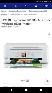 Epson xp 345 printer £34.99 with free delivery at Currys